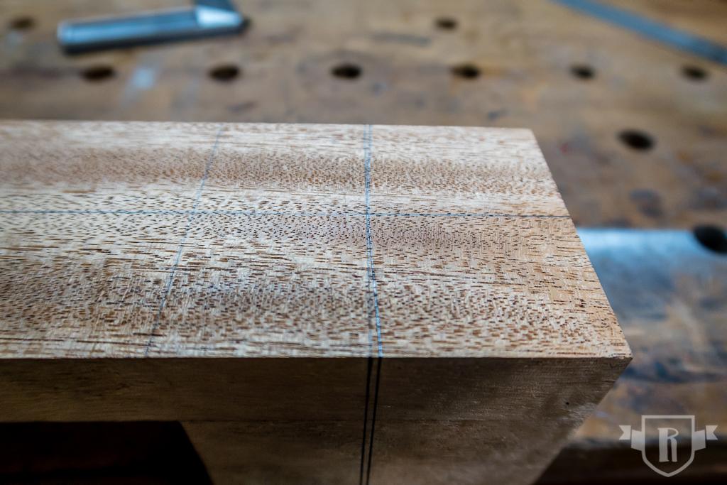 Bau einer Guitarlele: #5 Halsklotz schlitzen