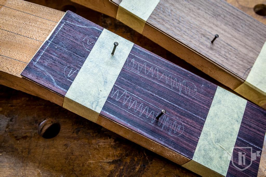 Bau einer Guitarlele: #7 Kopfplatte furnieren